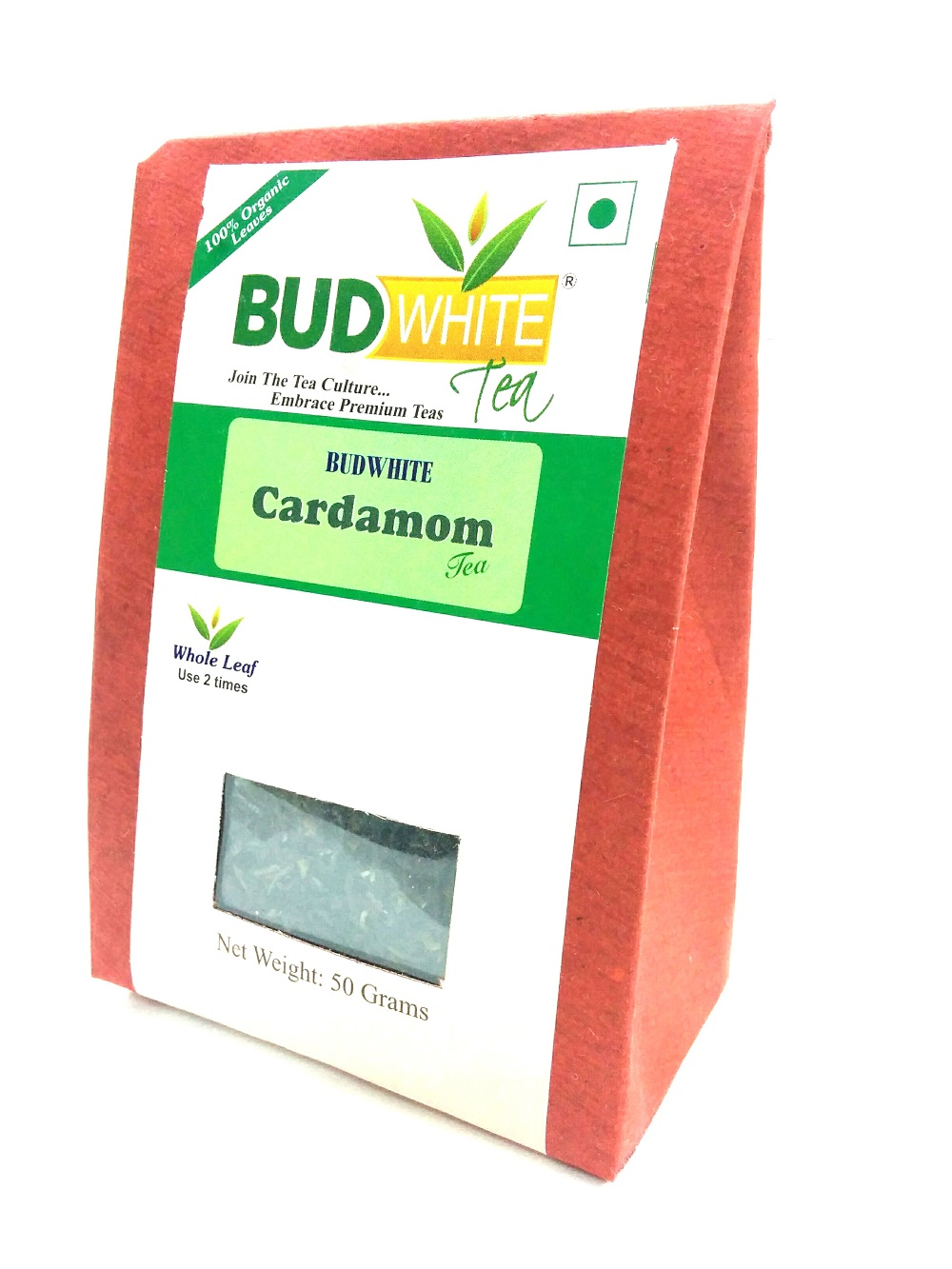 Cardamom (Without Milk) using Organic Whole Leaf Assam Black Tea - 50 G Loose