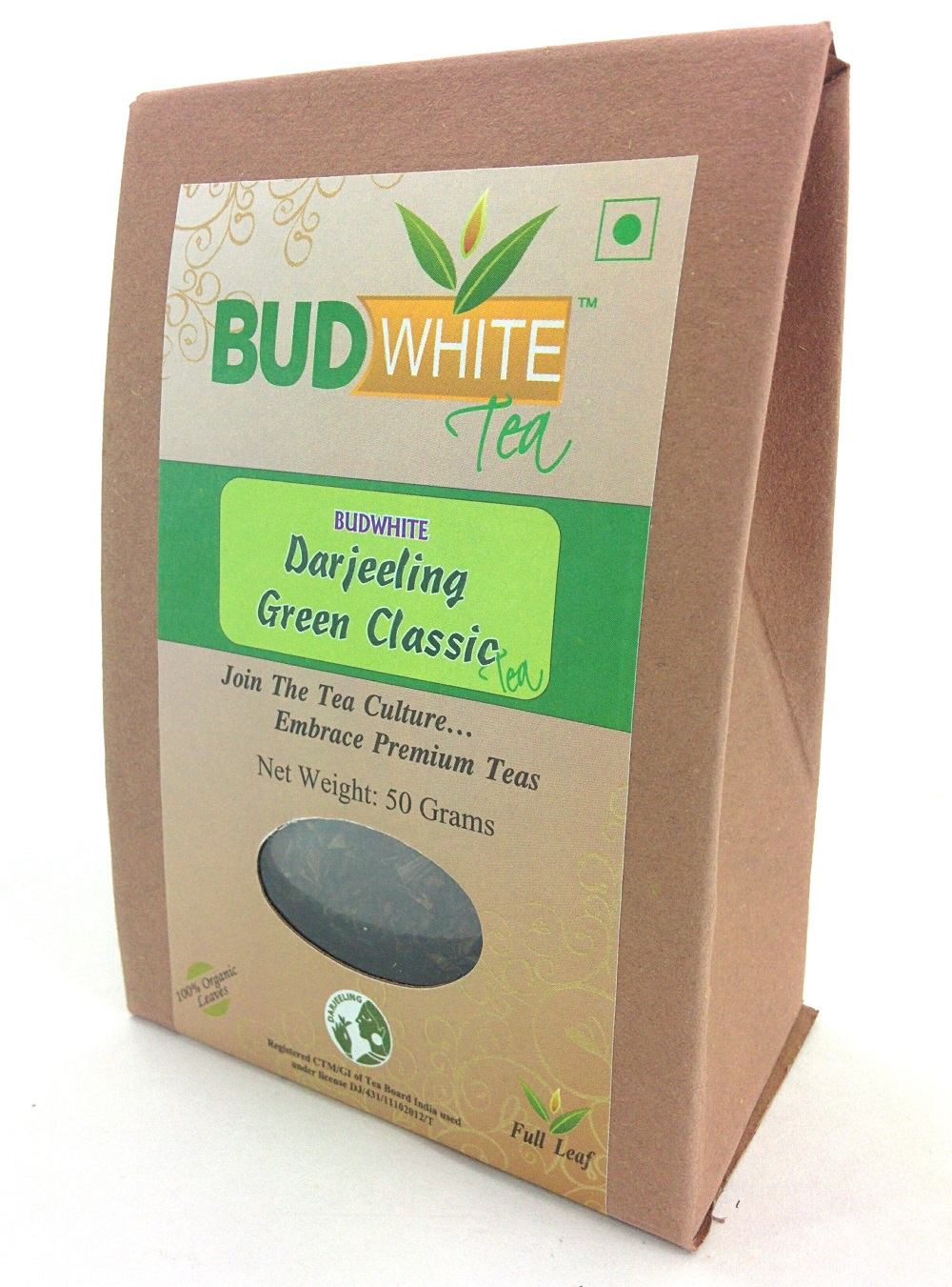 Darjeeling Green Classic Organic Whole Leaf Tea