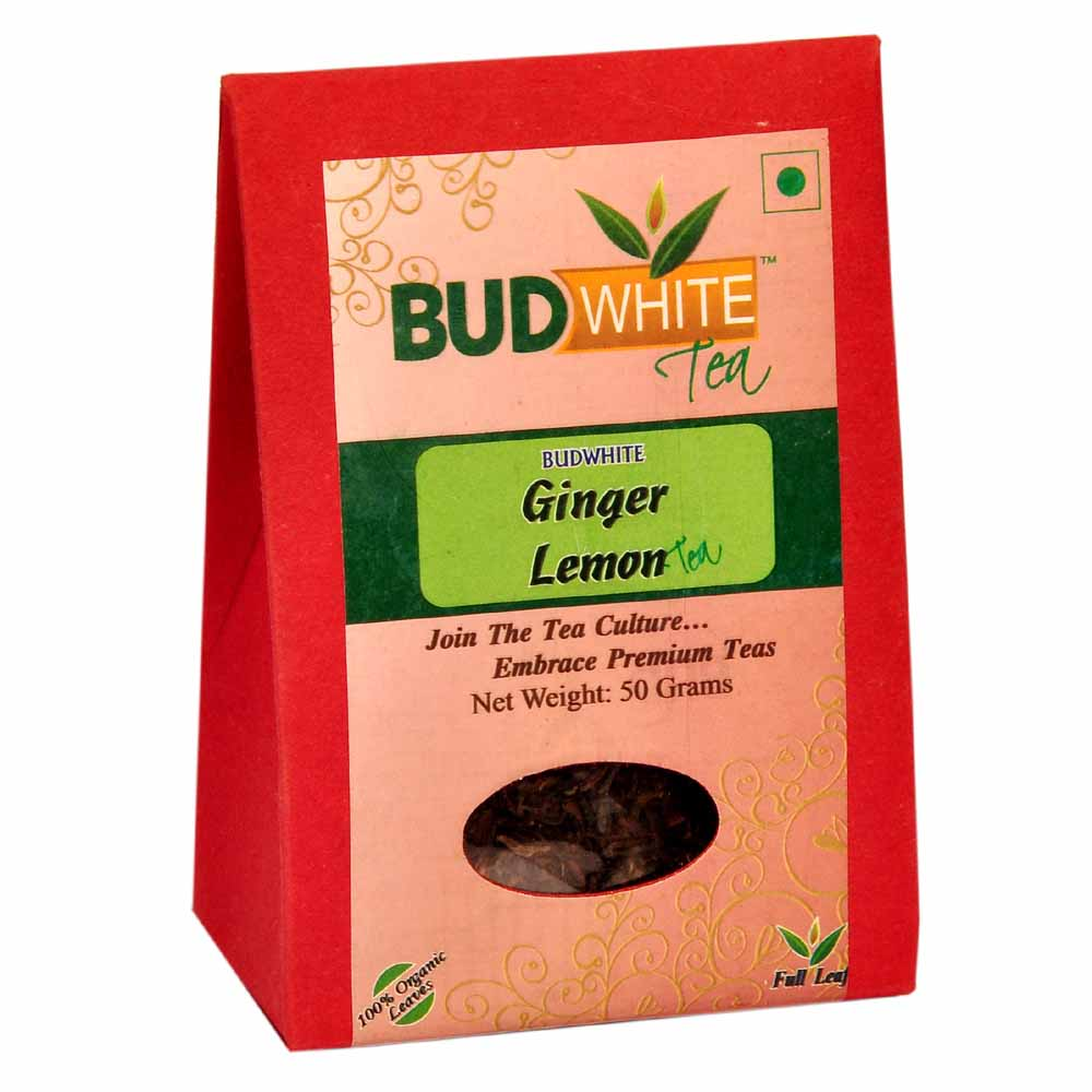 Ginger Lemon (Without Milk) using Organic Whole Leaf Assam Black Tea